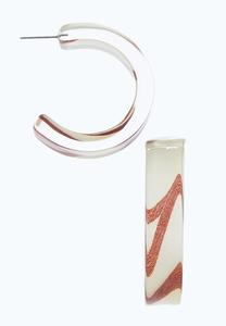 Lucite Open Back Earrings