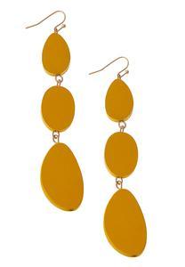 Tri Wood Dangle Earrings