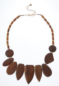 Geo Wood Necklace
