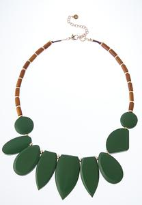 Geo Wood Necklace