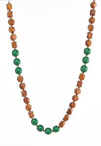 Long Wood Bead Necklace