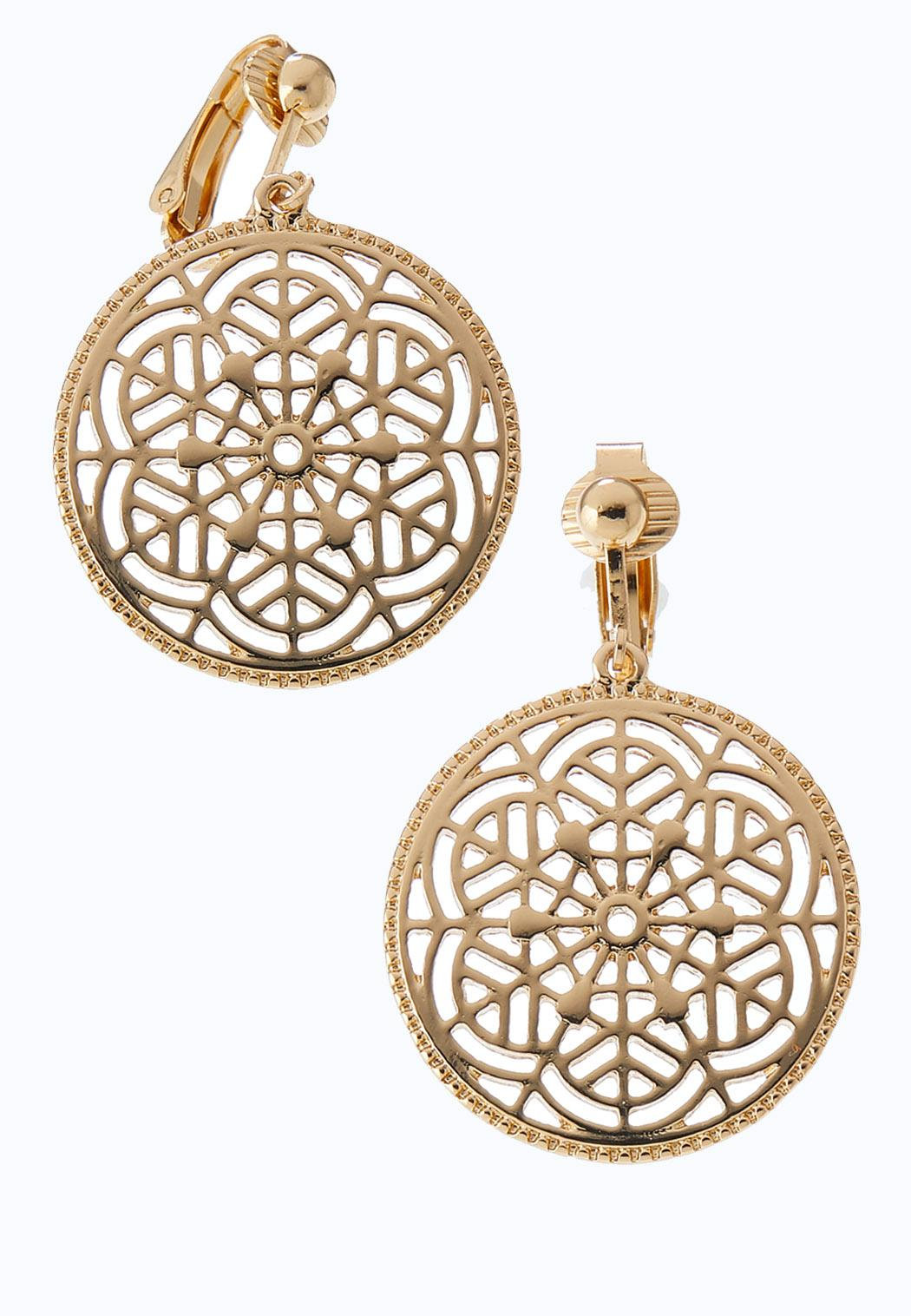 Filigree Clip-On Earrings