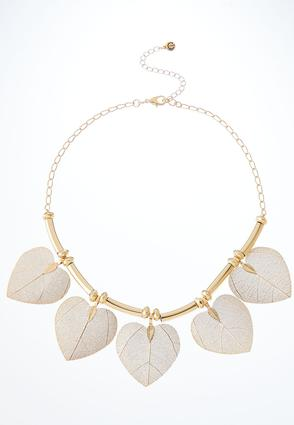 Delicate Leaf Bib Necklace