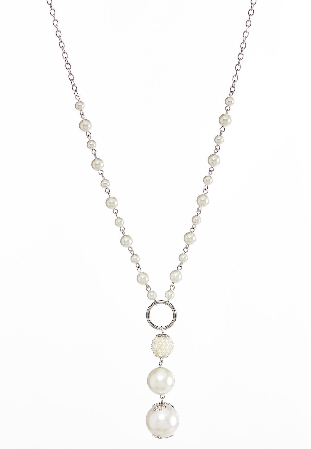 Graduated Pearl Pendant Necklace