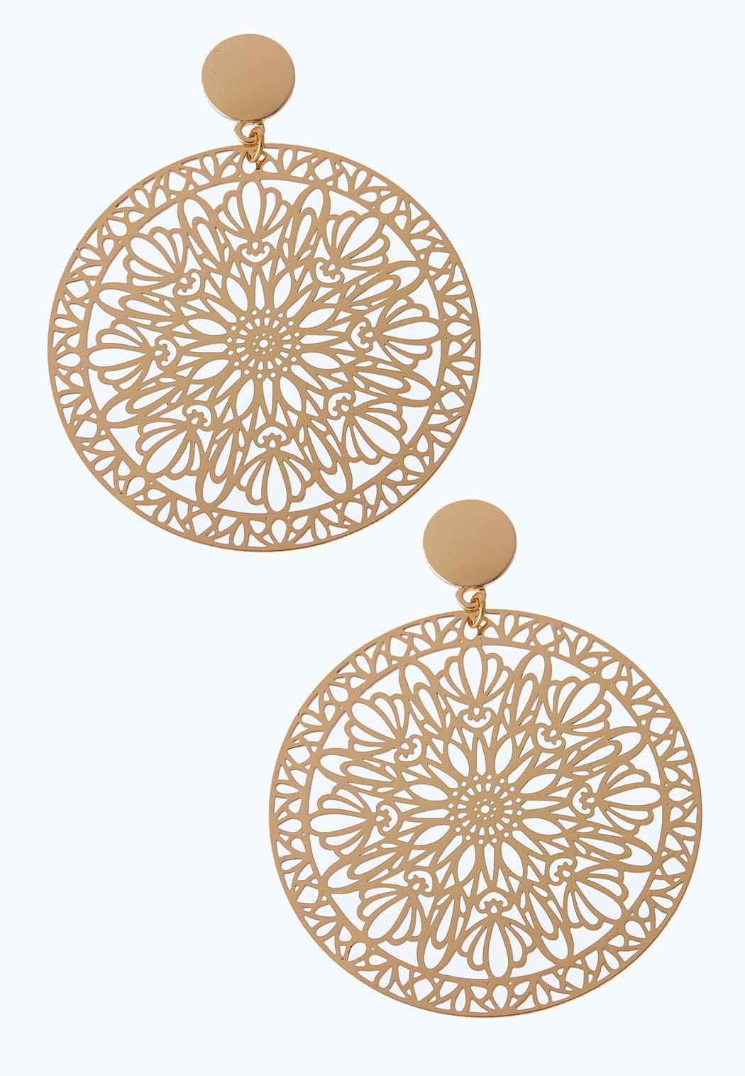 Laser Cut Circle Earrings