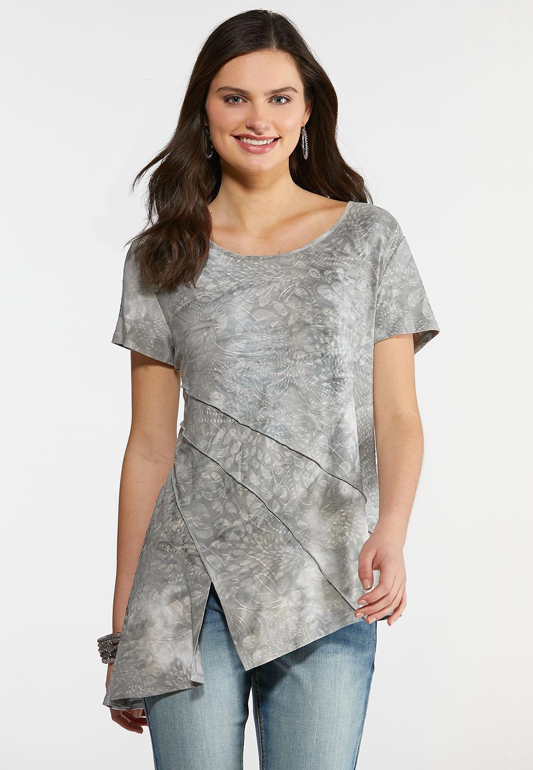 Gray Asymmetrical Top