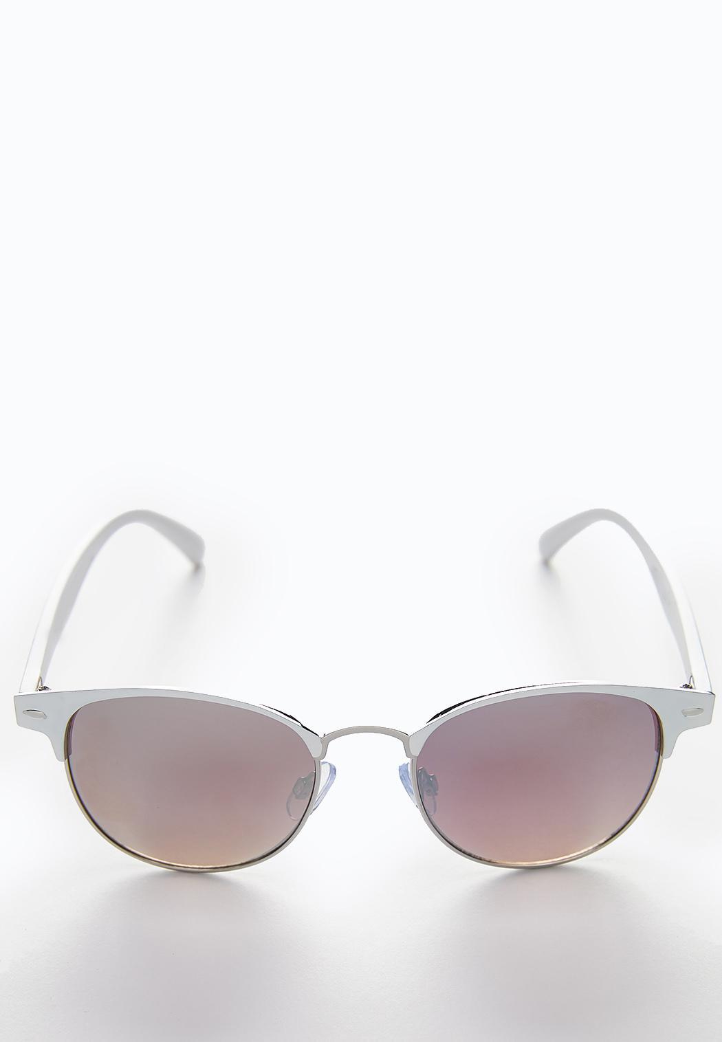White Mirrored Sunglasses