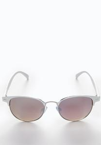 White Mirrored Sunglasses