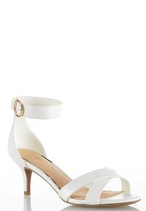 Wide Width Ankle Strap Heeled Sandals