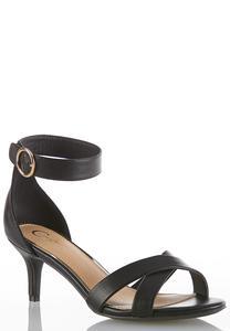 36b2277319 Wide Width Ankle Strap Heeled Sandals