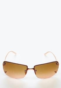 Rose Gold Rimless Sunglasses