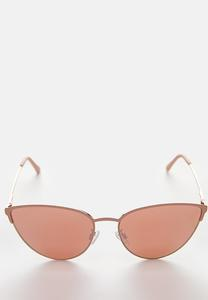 Pink Rim Cateye Sunglasses
