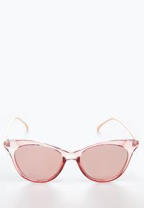 Pink Lucite Sunglasses