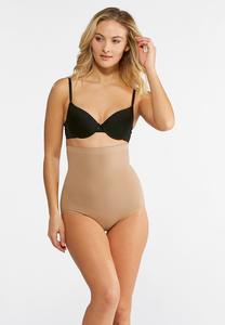 Plus Size Nude High Waist Seamless Panties