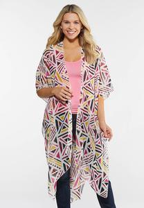 Geo Shimmer Kimono