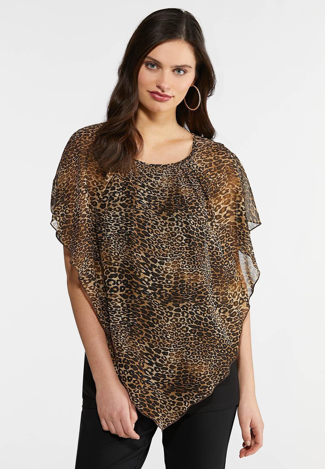 Leopard Embellished Capelet
