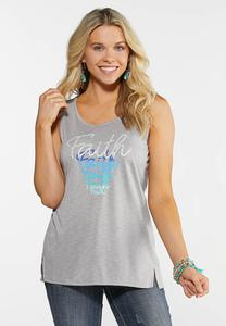 Plus Size Gray Faith Tank