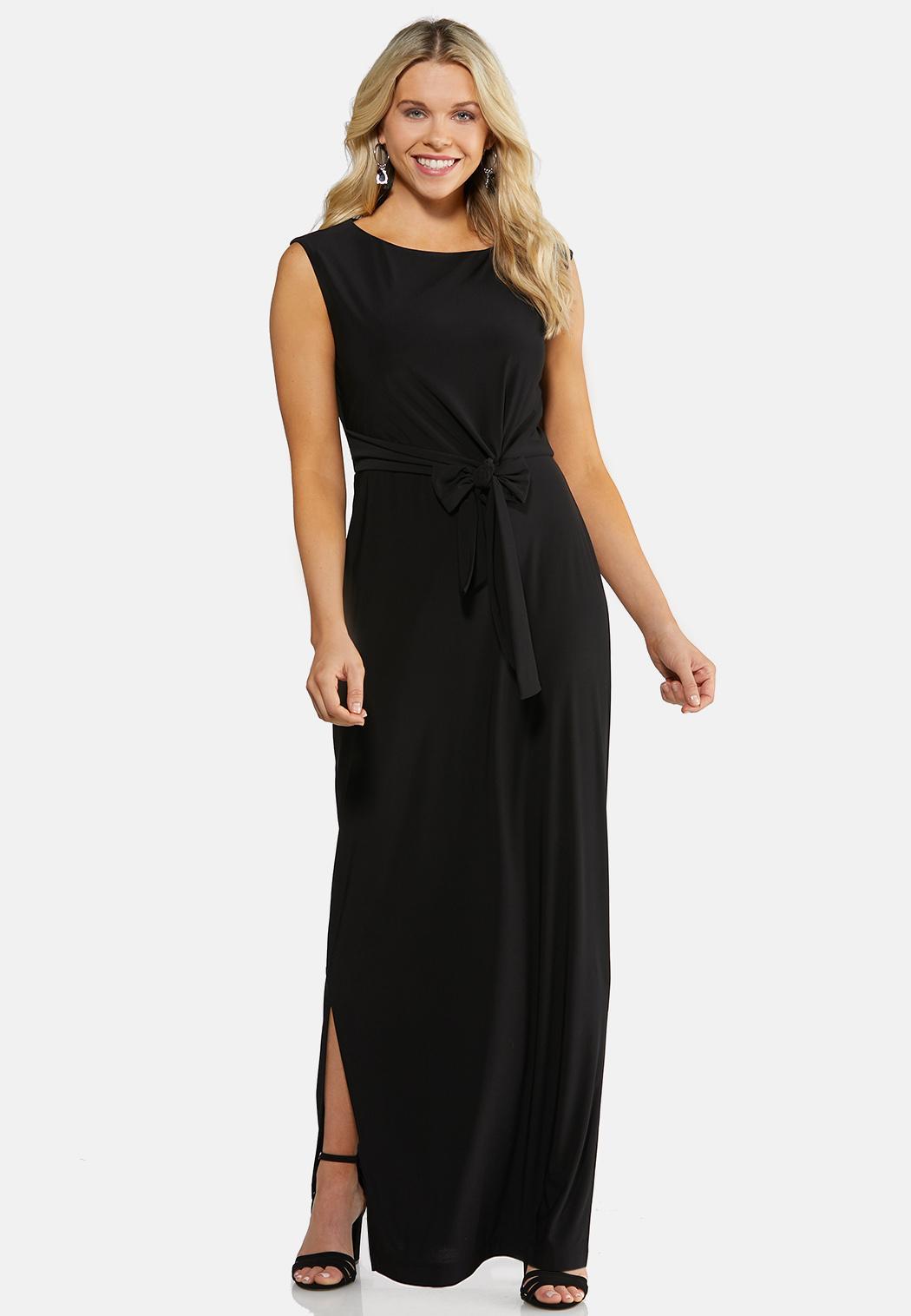 Plus Size Tie Front Maxi Dress Dresses Cato Fashions