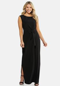 Plus Size Tie Front Maxi Dress