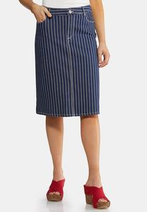Americana Stripe Denim Skirt