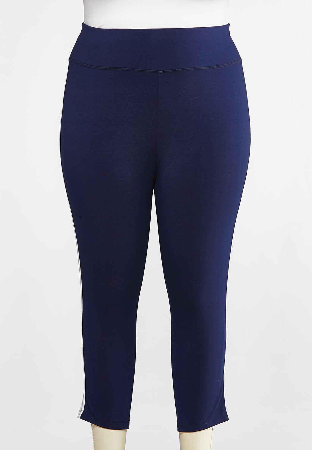 Plus Size Cropped Sporty Leggings