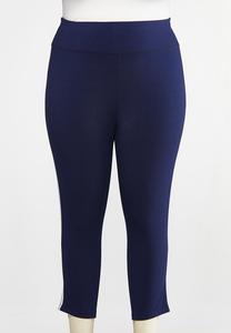 Plus Size Cropped Sporty Leggings