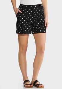 Pull-On Polka Dot Shorts
