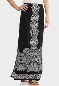 Plus Size Puff Medallion Maxi Skirt