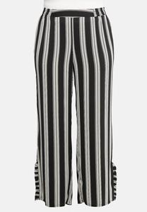 Plus Size Ruffle Hem Printed Palazzo Pants