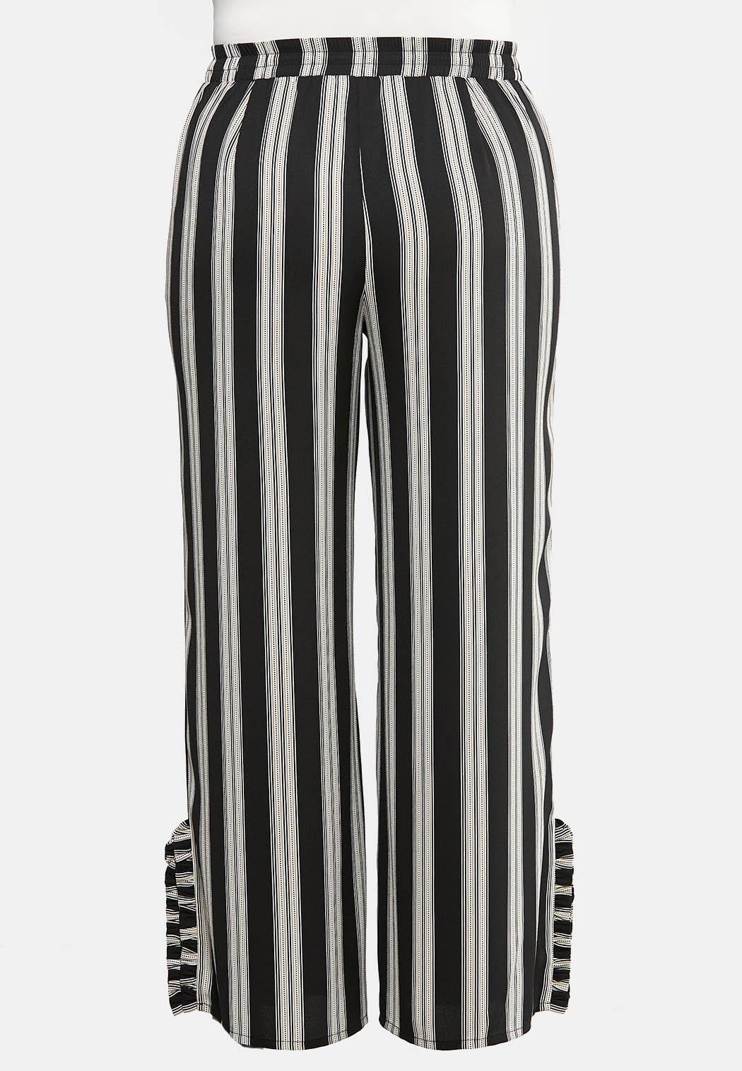 742fec2ce4a1c9 Plus Size Ruffle Hem Printed Palazzo Pants Pants Cato Fashions