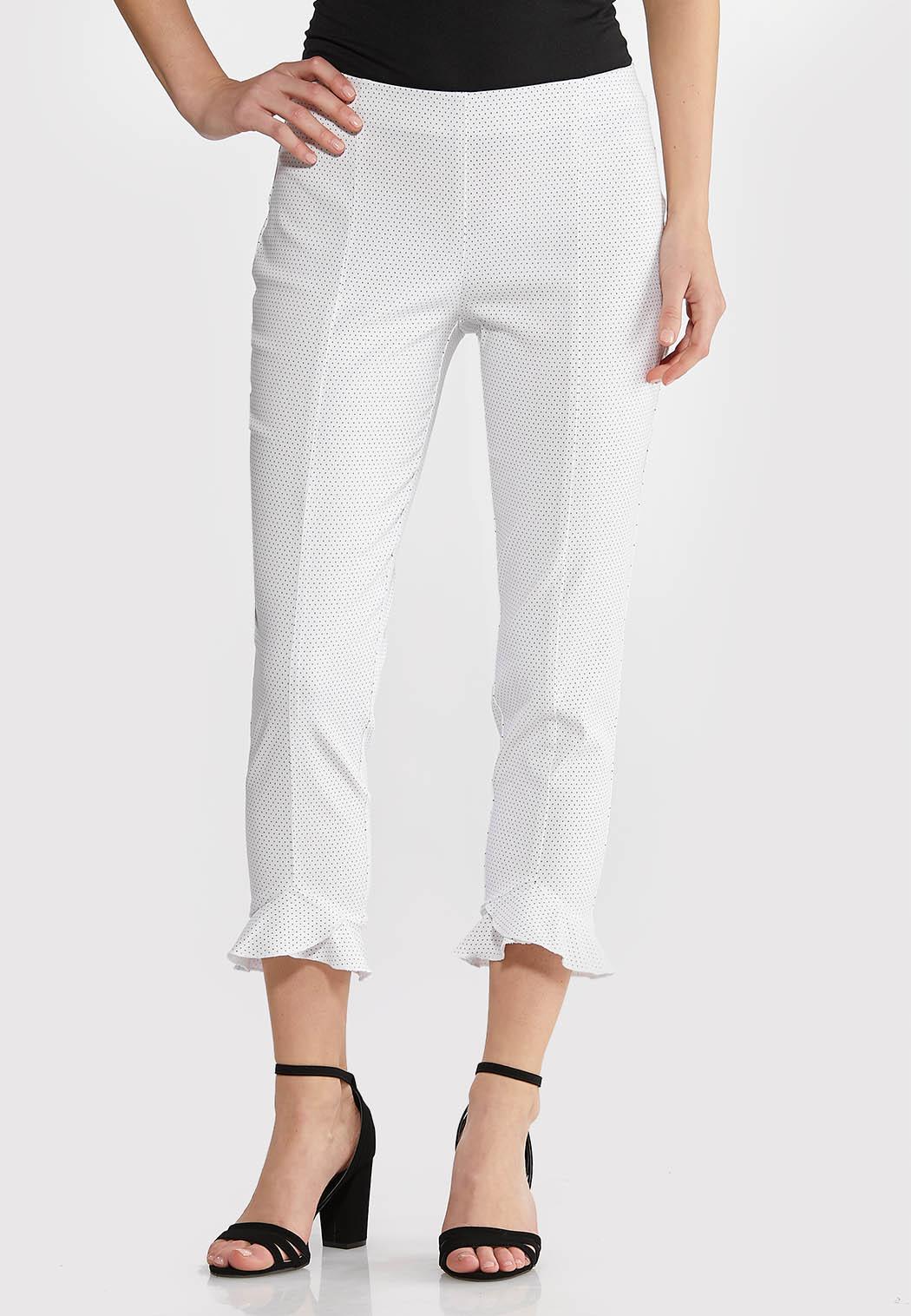 Ruffled Hem Dot Pants