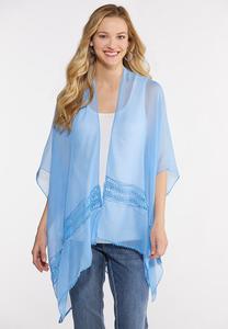 Crochet Inset Sheer Kimono