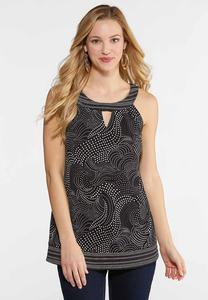 Plus Size Swirly Dot Cleo Tank