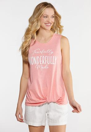Plus Size Fearfully And Wonderfully Made Tank