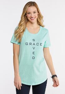Plus Size Saved Grace Tee