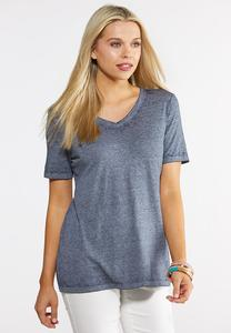 Plus Size Soft Solid Tee