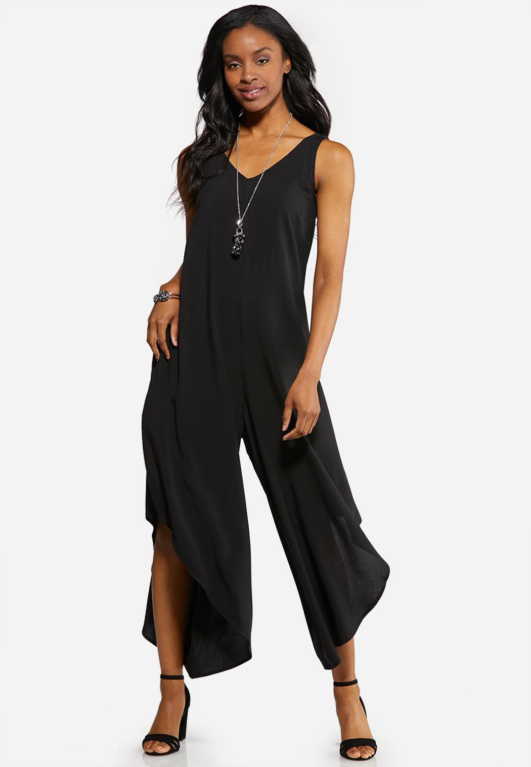 Plus Size Solid Genie Jumpsuit Dresses Cato Fashions