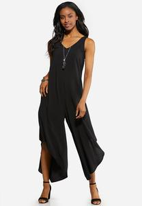 Plus Size Solid Genie Jumpsuit