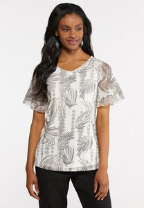 Plus Size Mesh Palm Top