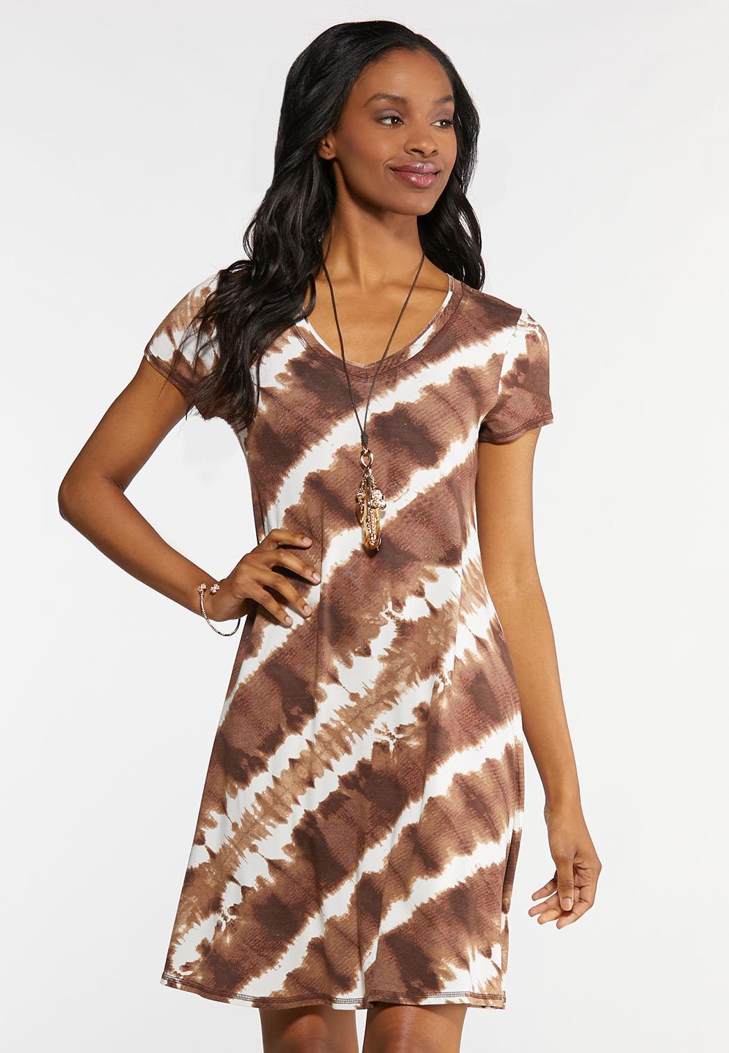 51f5c559027 Tie Dye V-Neck Dress Dresses Cato Fashions