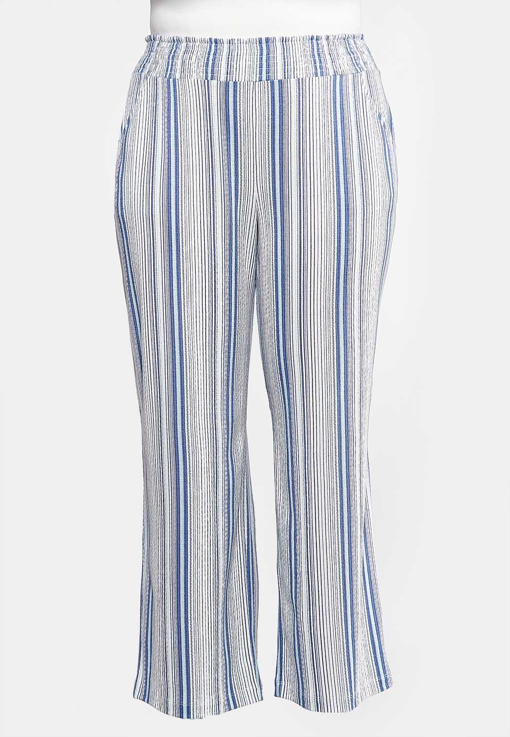 3d48120e4f Plus Size Striped Wide Leg Pants Wide Leg Cato Fashions
