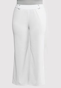 Plus Size Stretch Wide Leg Trouser Pants