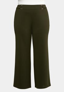 Plus Size Stretch Wide Leg Trouser Pants