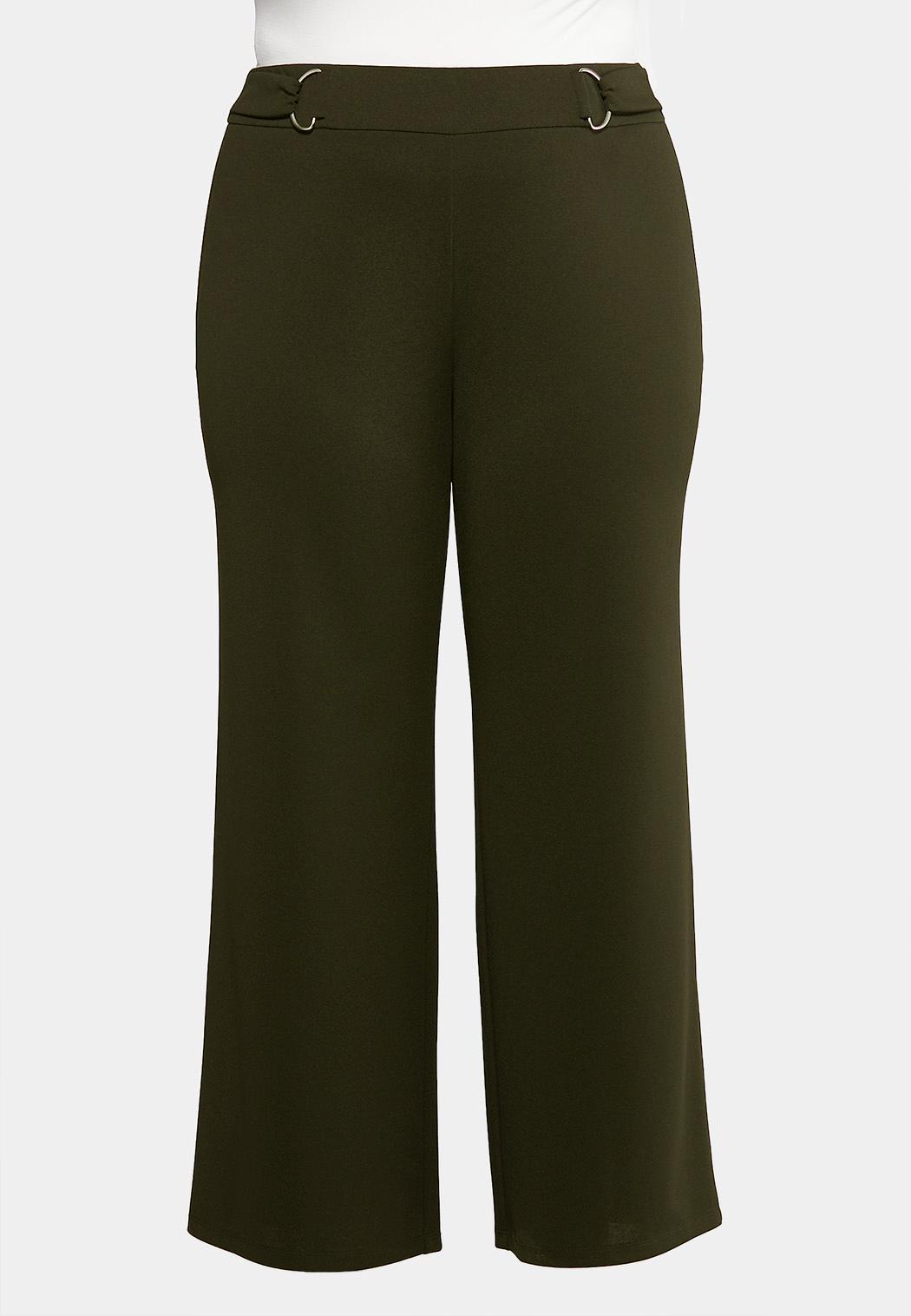 Plus Petite Stretch Wide Leg Trouser Pants