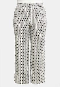 Plus Petite Dotted Stripe Palazzo Pants