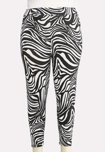 daeed0d5b Plus Size Cropped Zebra Leggings