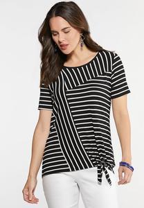 Multi Directional Stripe Top