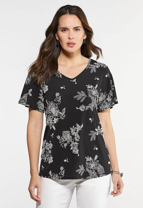 Floral Textured Tee
