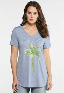 Plus Size Talk to the Palm Graphic Tee