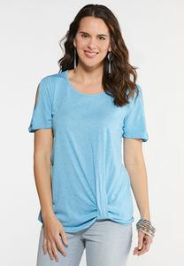 Twisted Cold Shoulder Tee